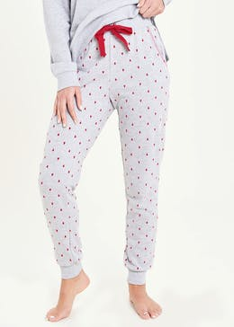 Heart Print Pyjama Jogging Bottoms