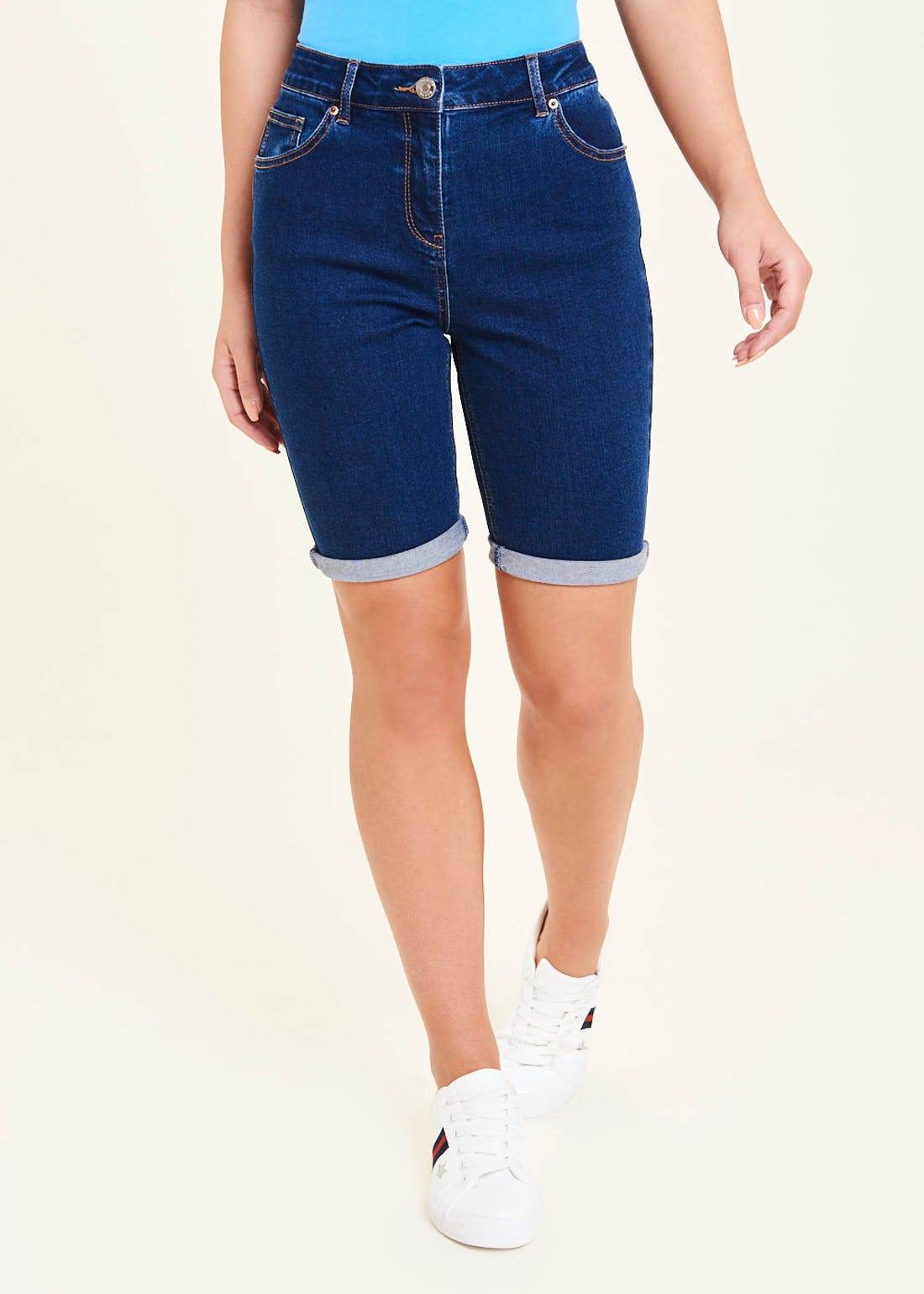 Knee Length Bermuda Denim Shorts