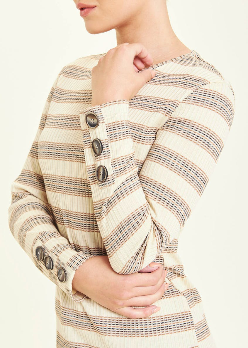 Long Sleeve Ribbed Stripe Top
