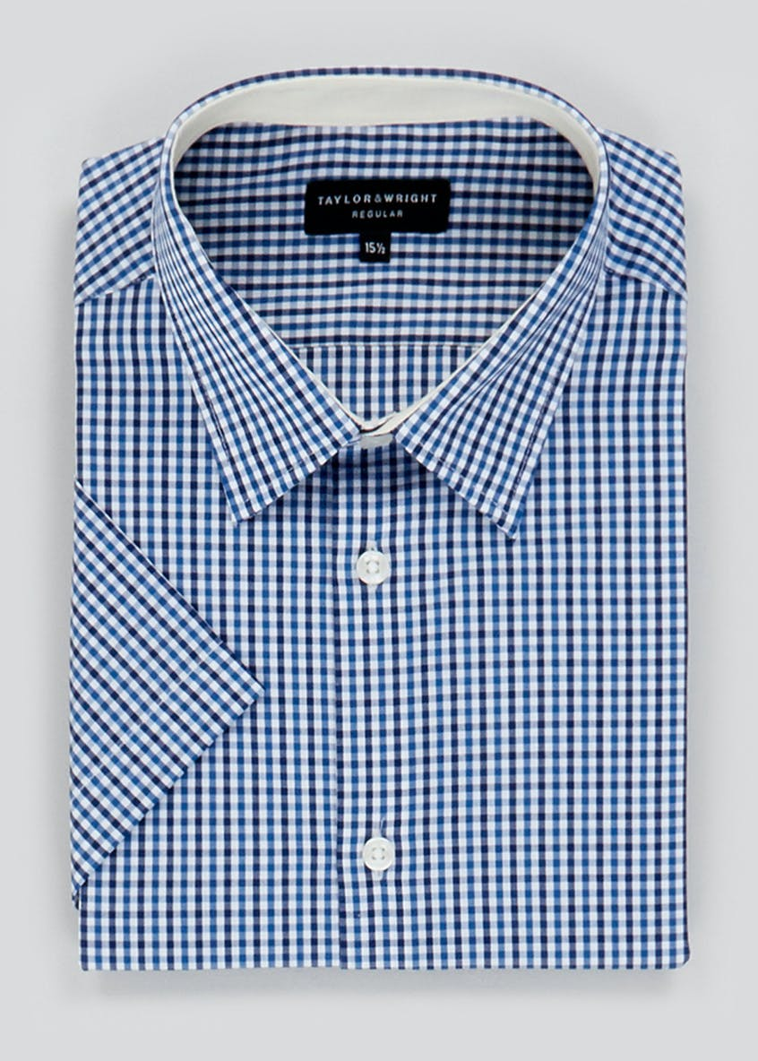 Taylor & Wright Short Sleeve Gingham Check Shirt