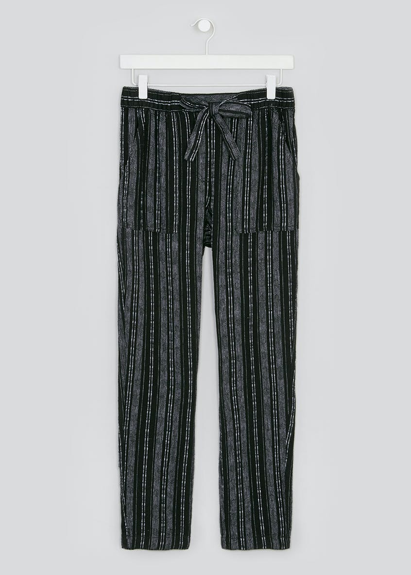 Tapered Stripe Linen Co-Ord Trousers