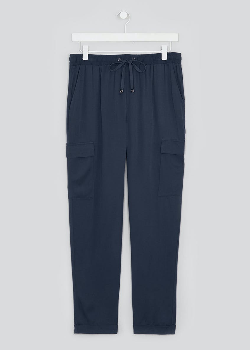 Papaya Petite Drawstring Utility Trousers