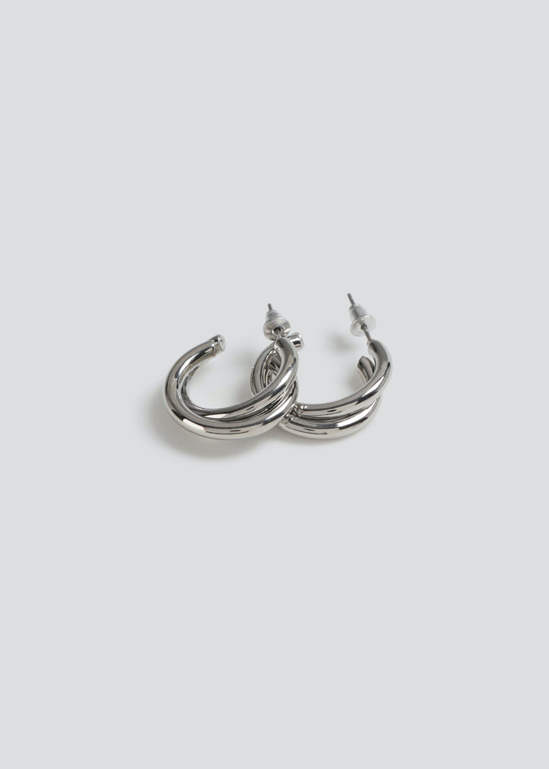 Double Twisted Hoop Earrings