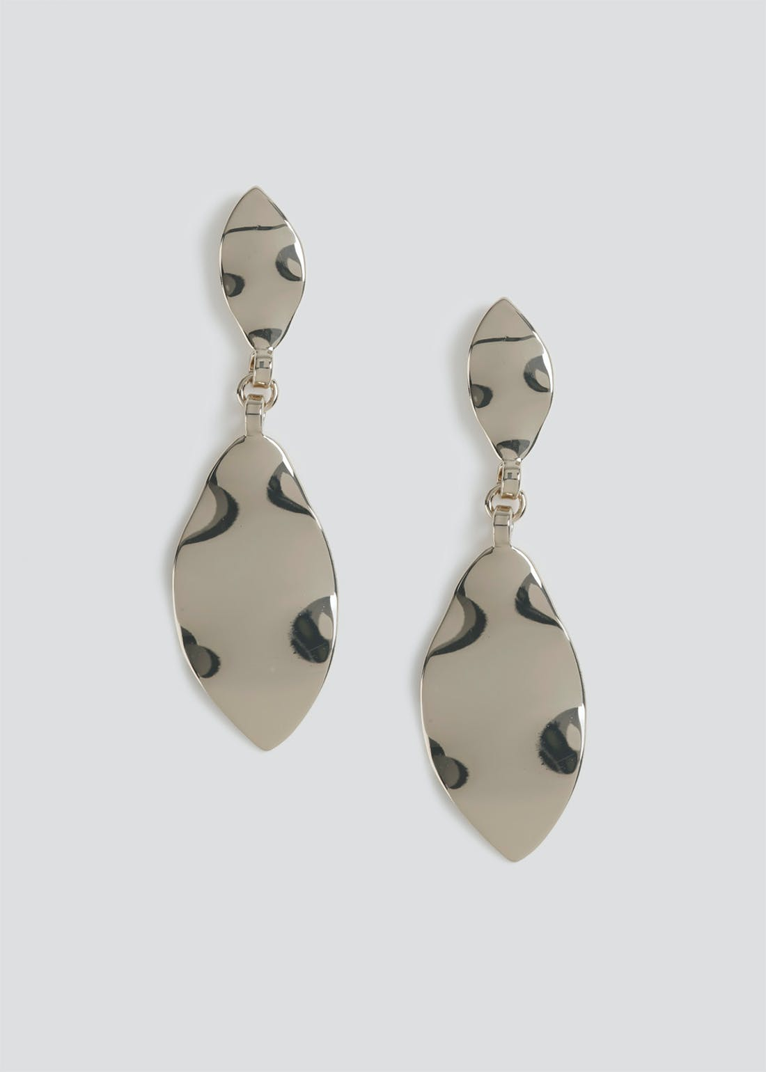 Beaten Leaf Drop Earrings