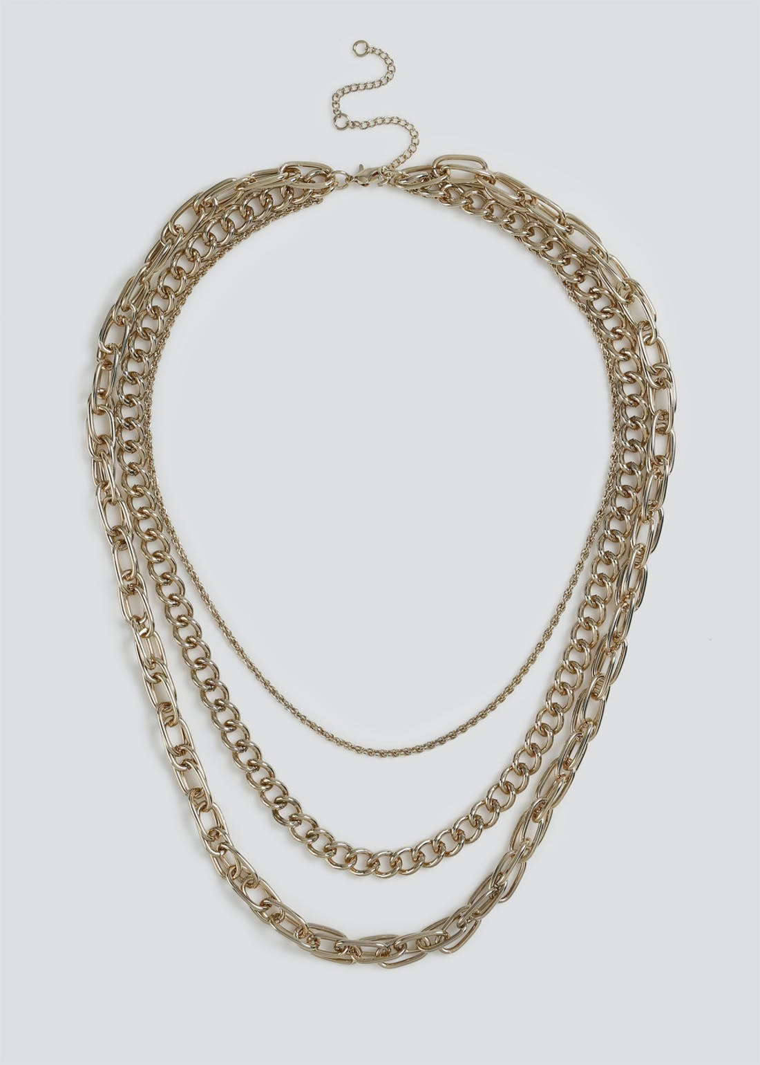 Multi Row Chain Layered Necklace