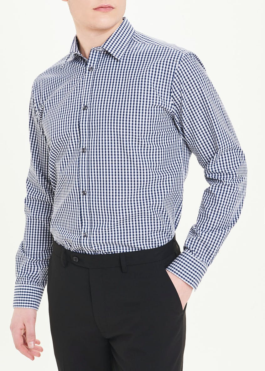 Taylor & Wright Long Sleeve Regular Fit Check Shirt & Tie Set