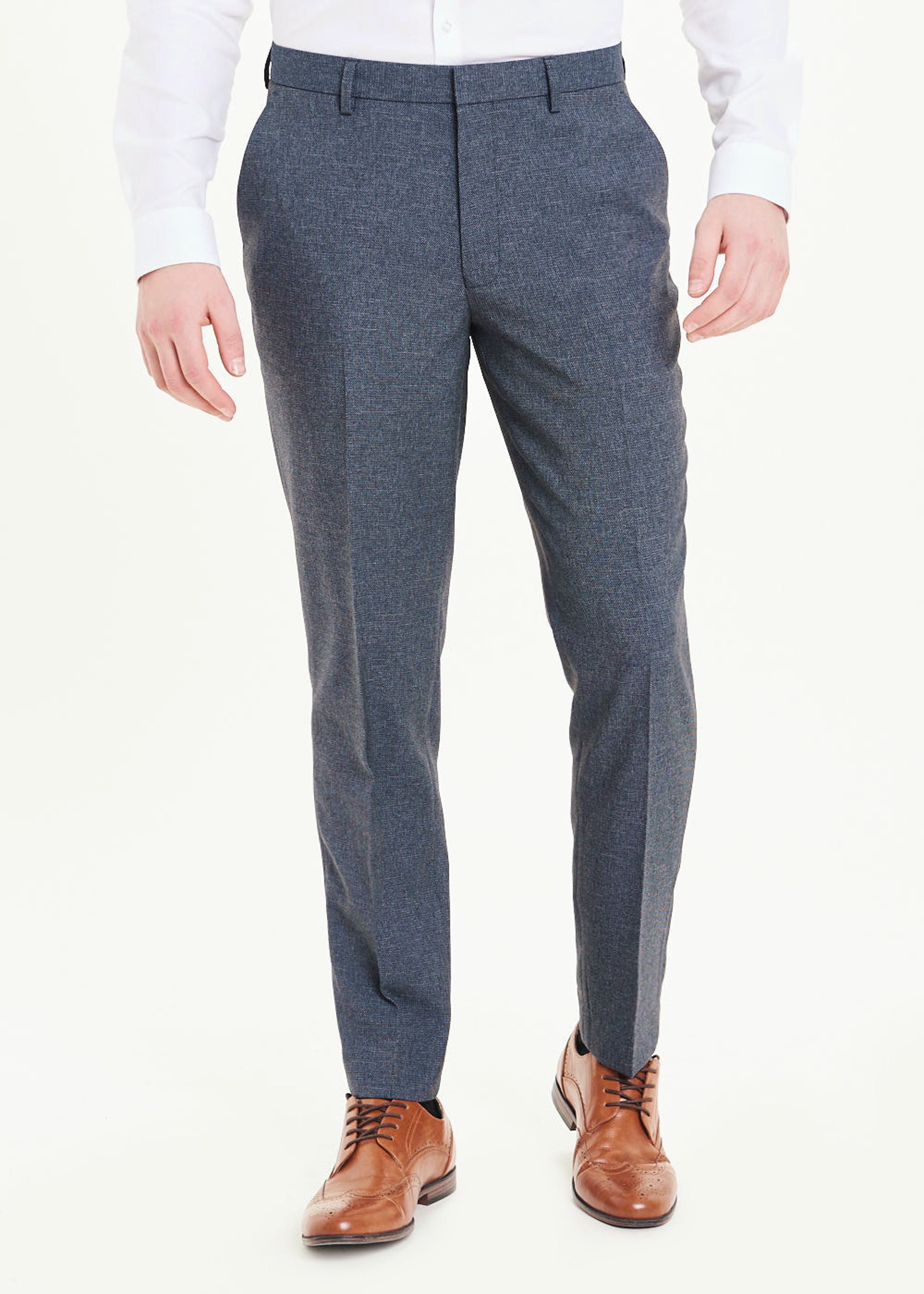 Taylor & Wright Hyde Slim Fit Trousers Blue bOs1Ni
