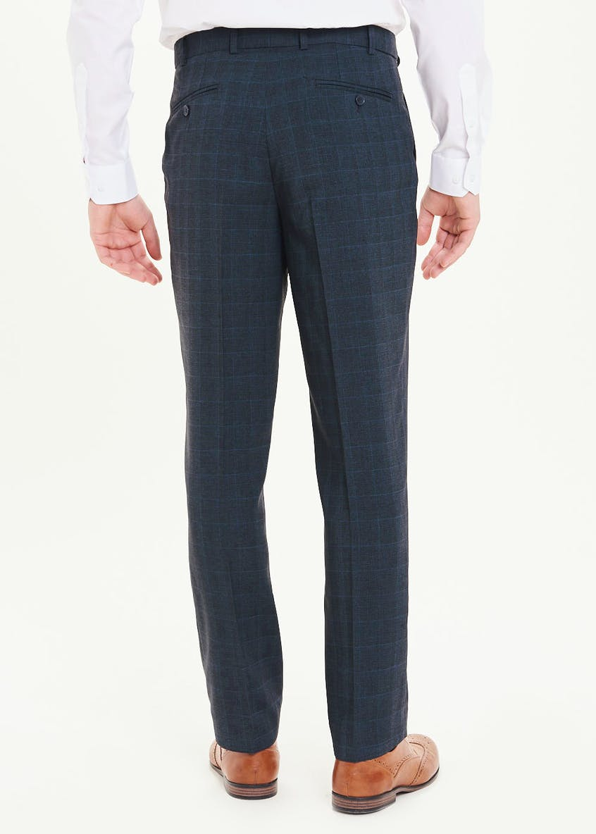 Taylor & Wright Regular Fit Flexi Waist Check Trousers