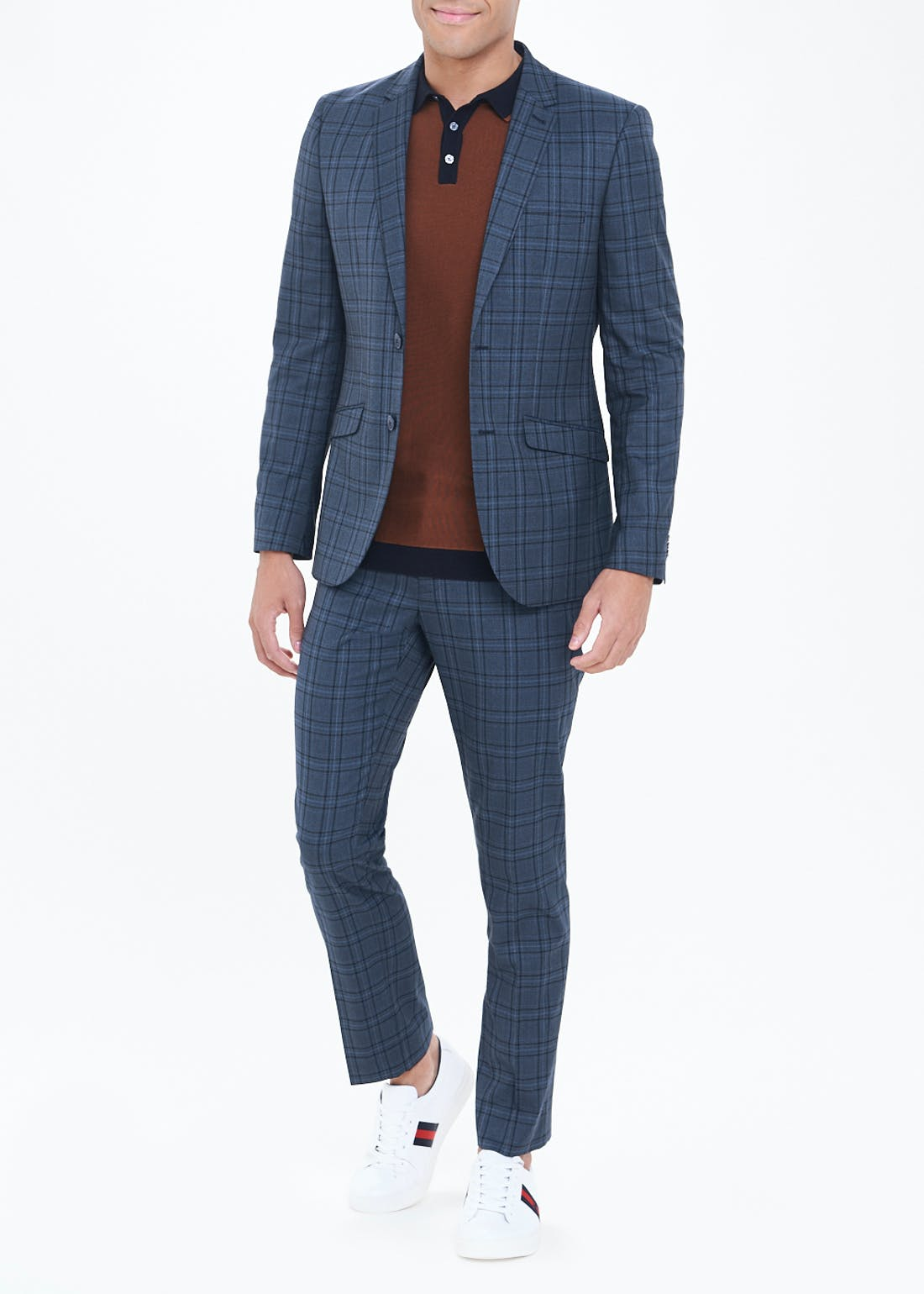 Taylor & Wright Berkley Check Slim Fit Suit Trousers