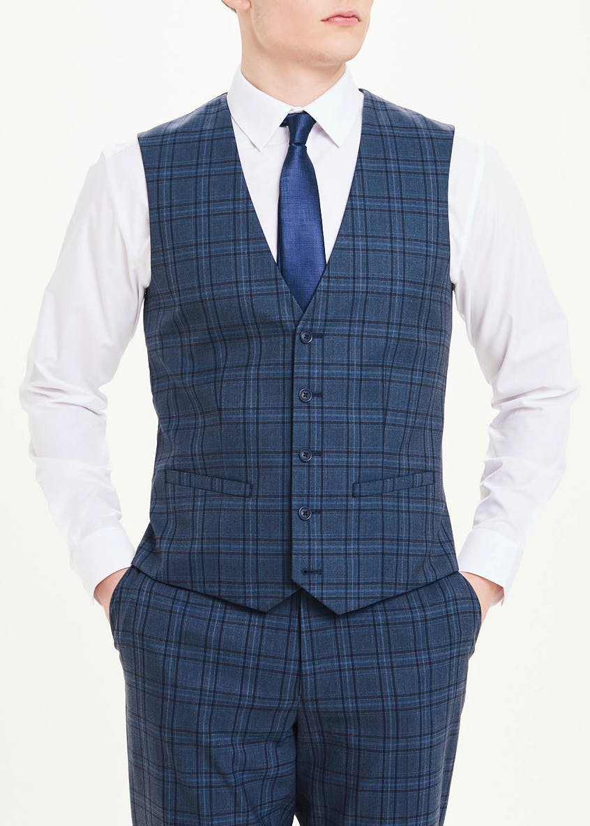 Taylor & Wright Berkley Check Slim Fit Suit Waistcoat