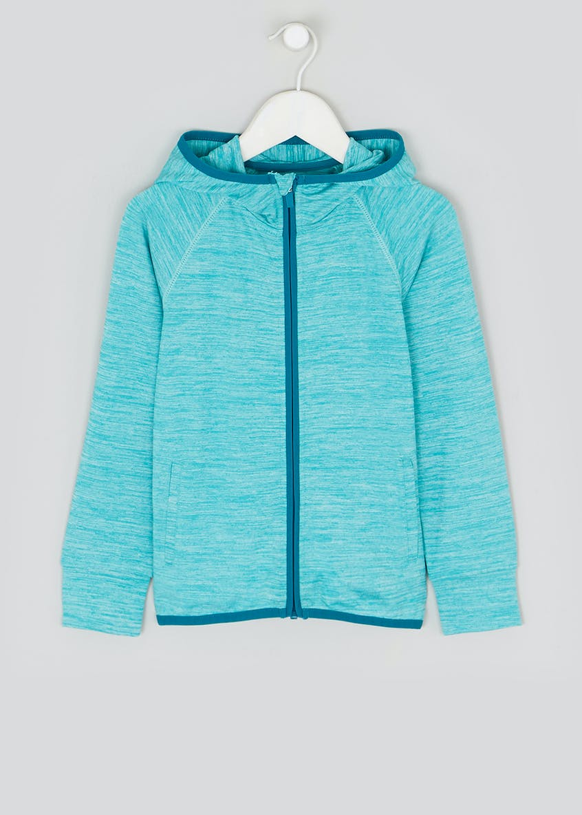 Girls Souluxe Turquoise Space Dye Sports Hoodie (4-13yrs)