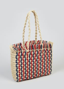 Grass Edge Stripe Tote Bag