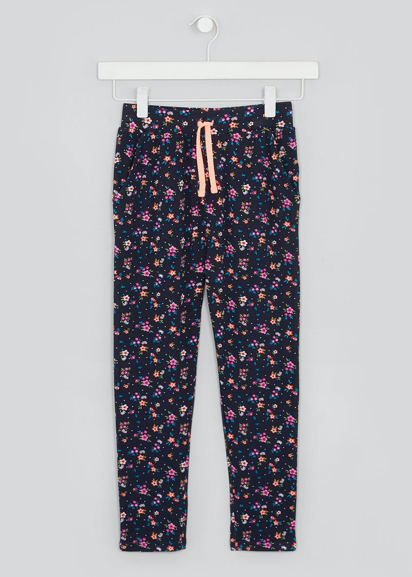 Girls Floral Trousers (4-13yrs)