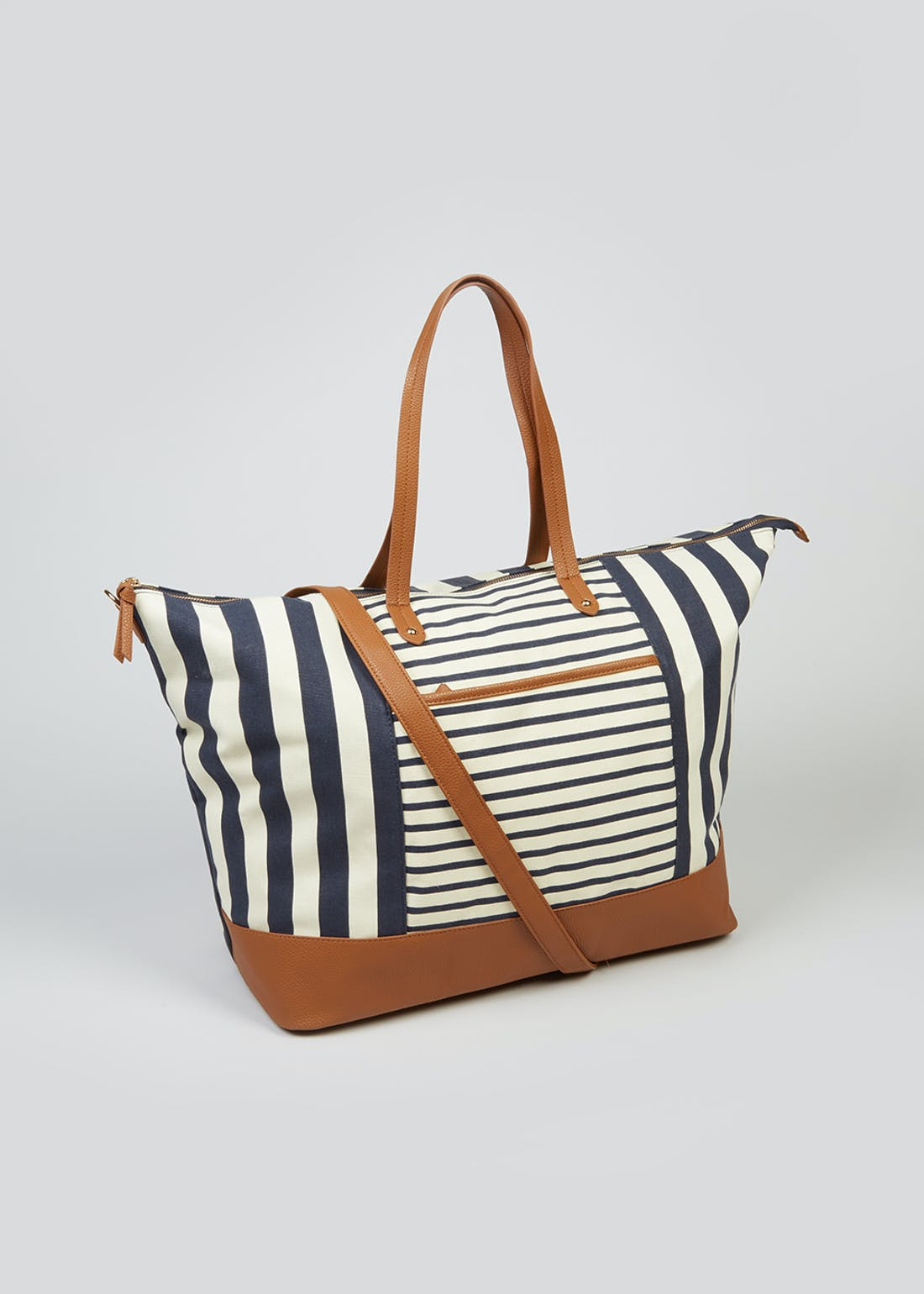 Canvas Stripe Weekend Bag