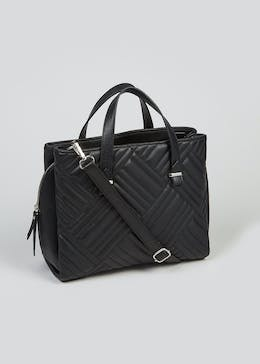 Quilted Midi Tote Bag