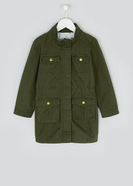 Girls Khaki Cargo Jacket (4-13yrs)