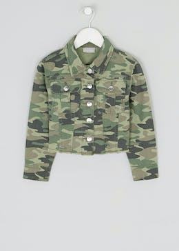 Girls Khaki Camo Denim Jacket (4-13yrs)