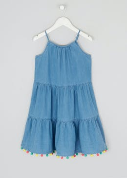 Girls Blue Strappy Maxi Dress (4-13yrs)