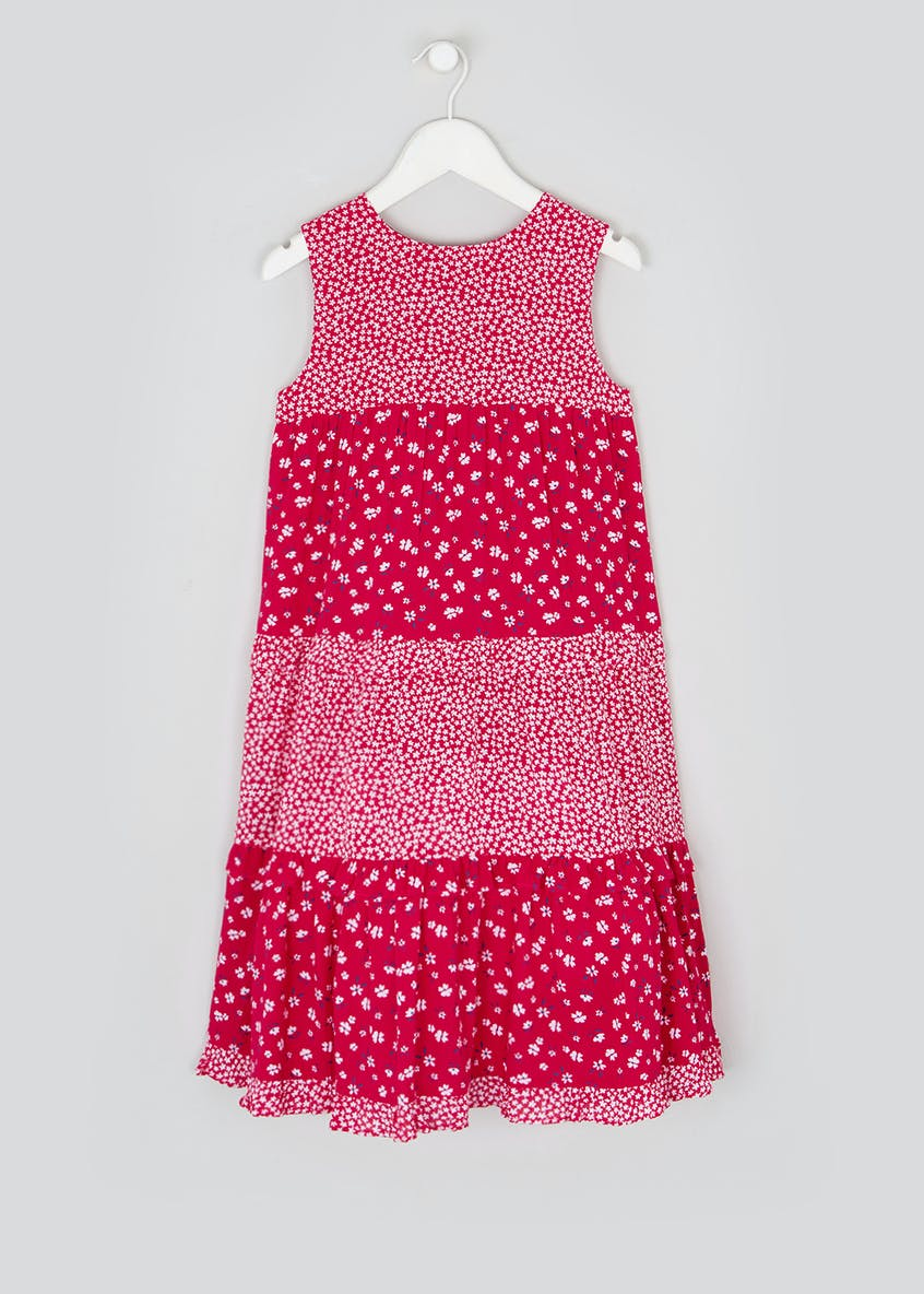Girls Red Sleeveless Maxi Dress (4-13yrs)