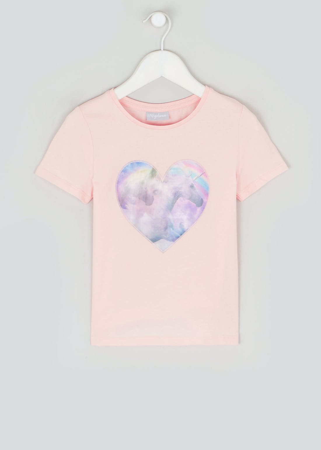 Girls Unicorn Heart T-Shirt (4-13yrs)