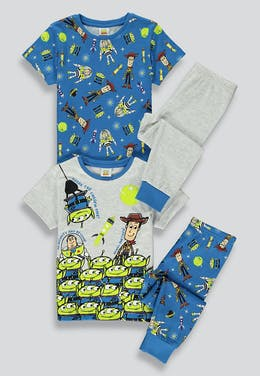 Kids Disney 2 Pack Toy Story Pyjamas (12mths-7yrs)