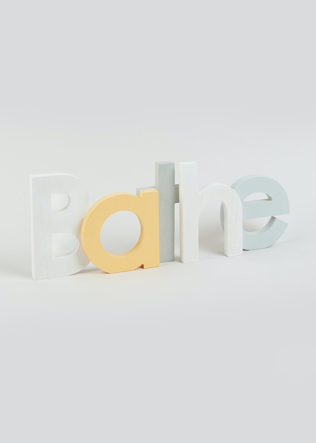 Bathe Wooden Letter Sign (17.5cm x 6.5cm)