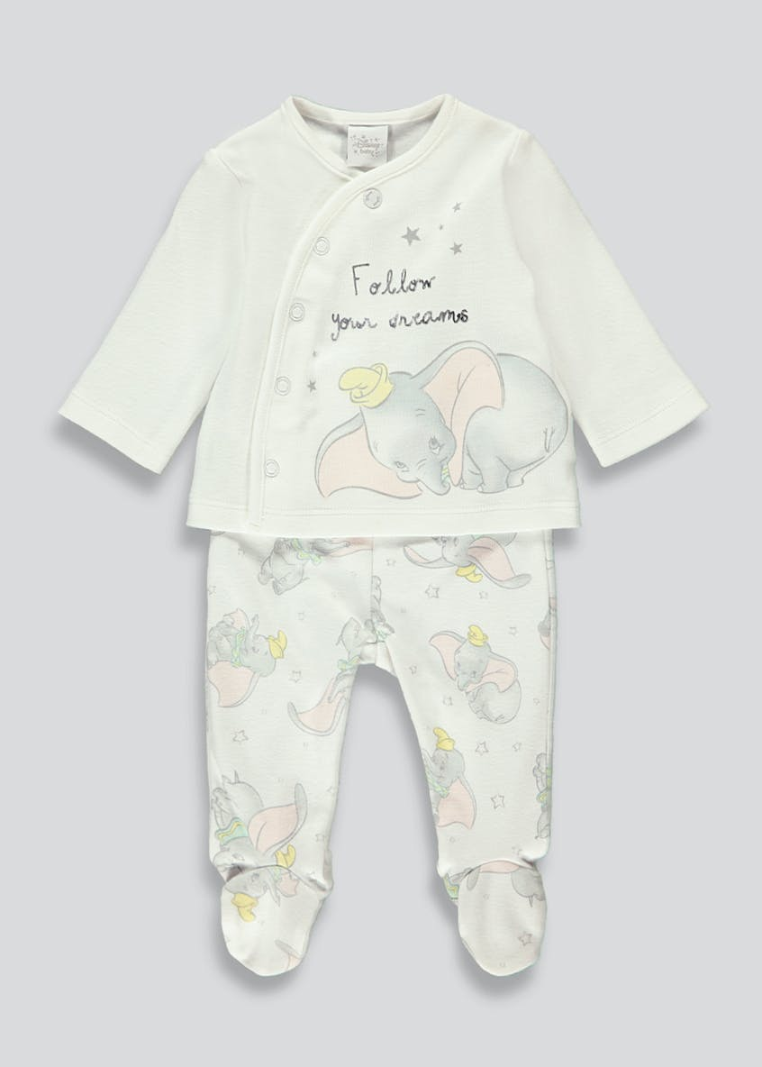 Unisex Disney Dumbo Pyjama Set (Newborn-9mths)