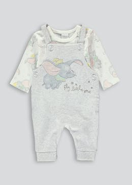 Unisex Dumbo Dungaree Bodysuit (Newborn-12mths)