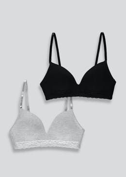 Girls 2 Pack Moulded Bras (28AA-34A)