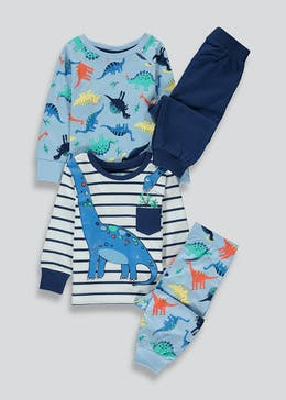 Boys 2 Pack Dinosaur Pyjamas (9mths-5yrs)