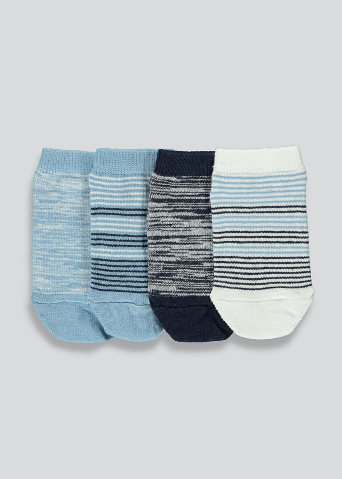 Boys 4 Pack Trainer Socks (Newborn-8.5)