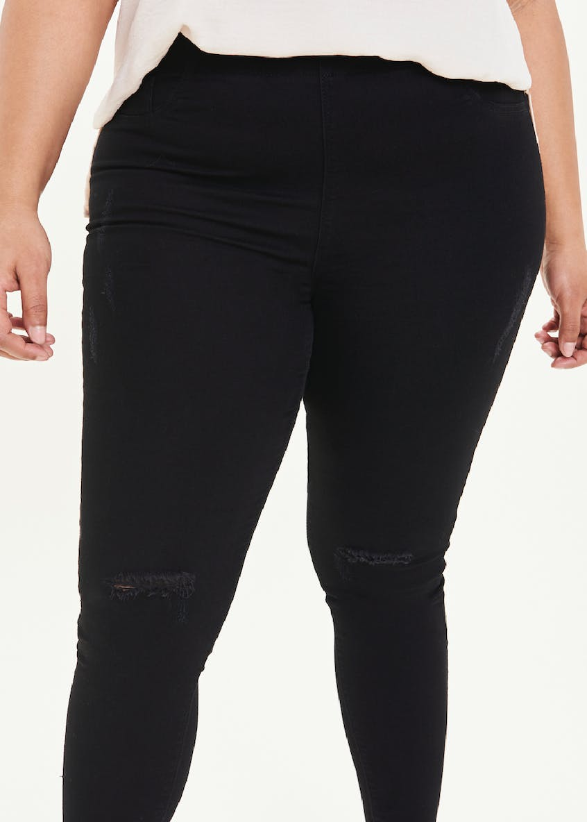 Papaya Curve Rosie Ripped Pull On Jeggings