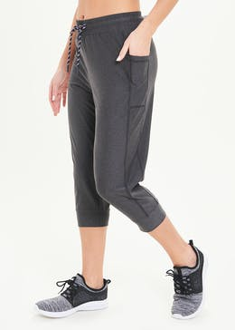 Souluxe Grey Cropped Gym Joggers