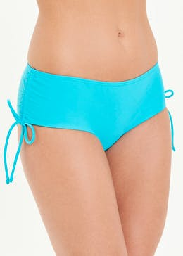 Gathered Side Short Bikini Bottoms
