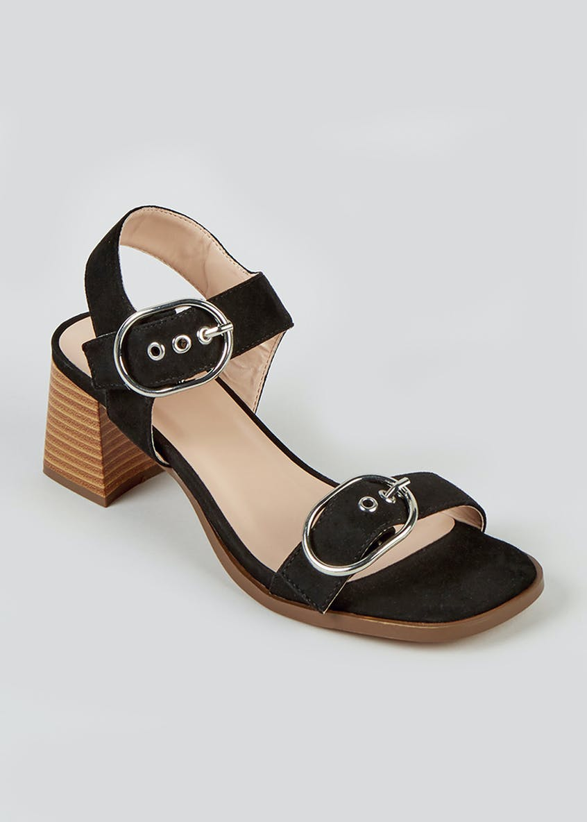 Black Buckle Detail Shoes