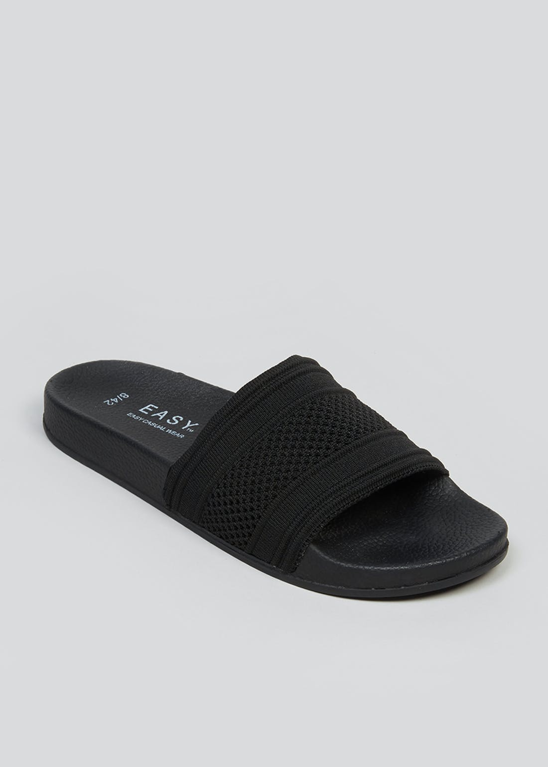 Black Knitted Sliders