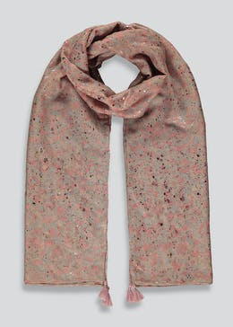 Smudge Print Woven Scarf