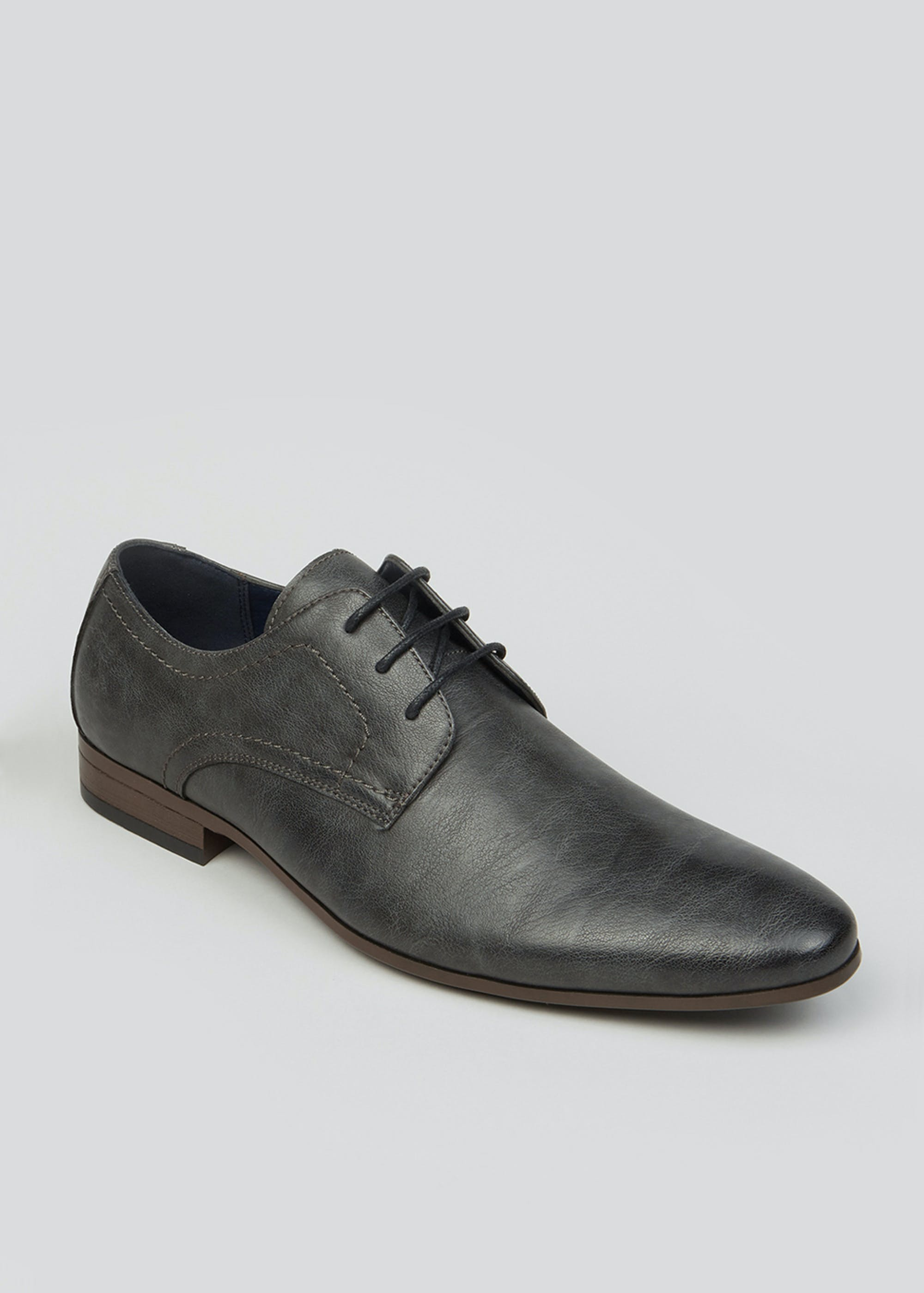 Grey Lace Up Formal Shoes Grey Ajt4sg
