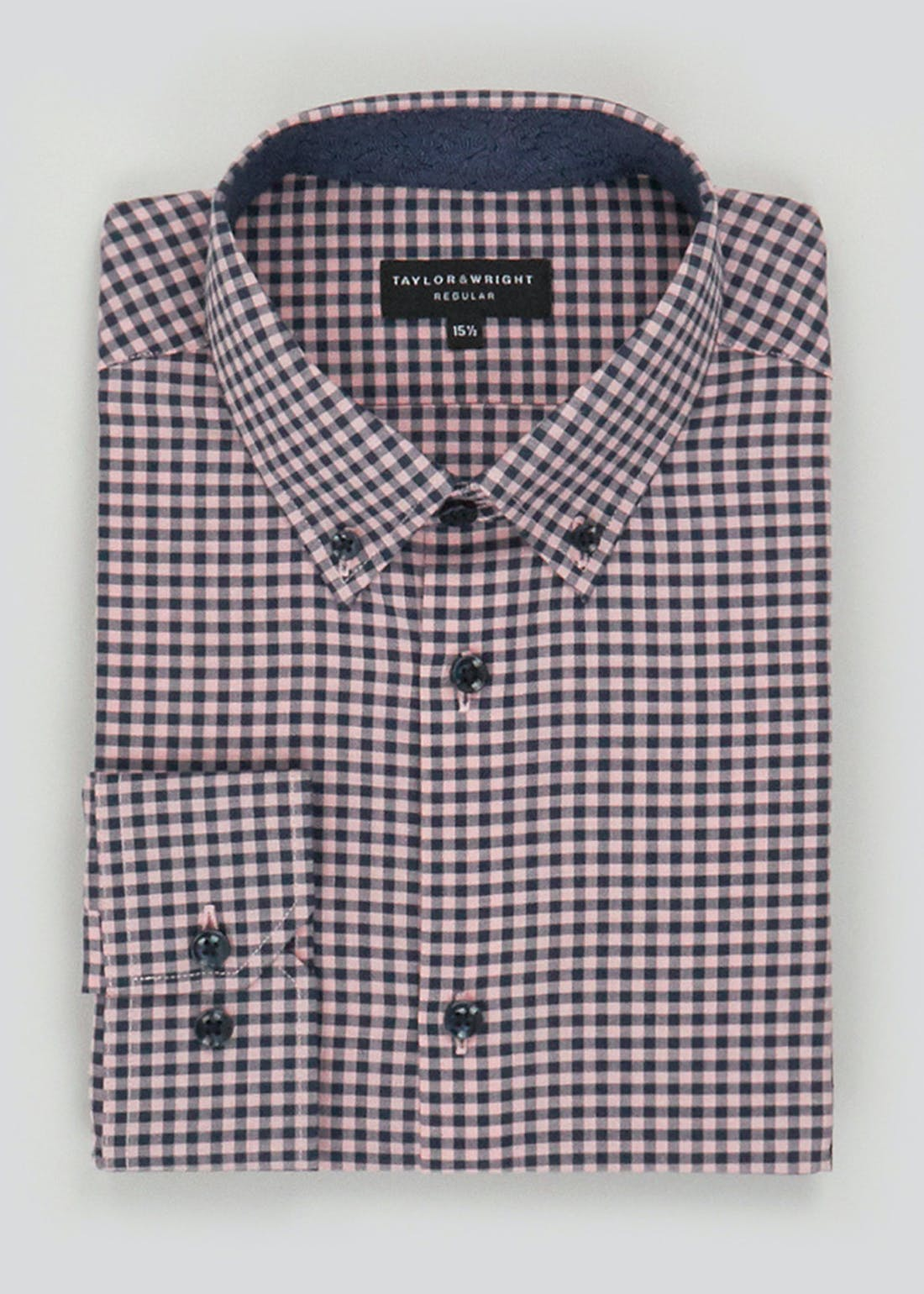 Taylor & Wright Long Sleeve Gingham Check Shirt