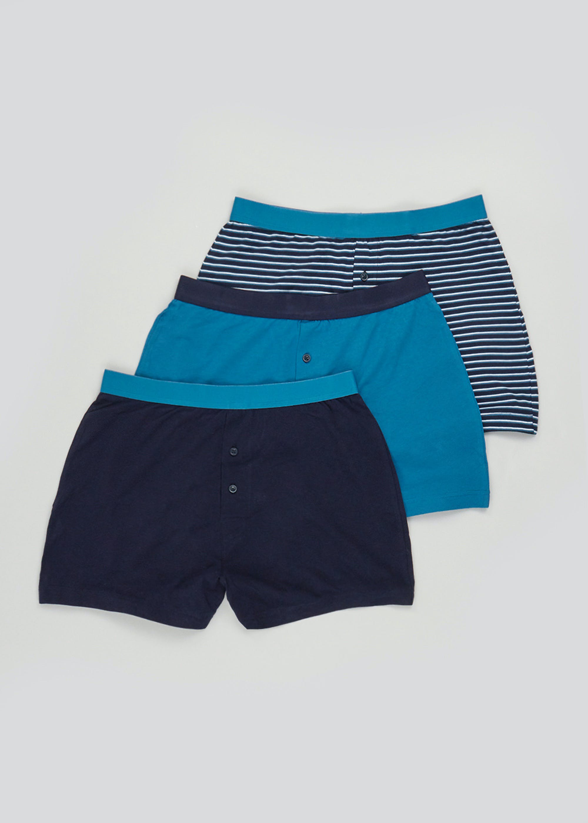 3 Pack Loose Fit Boxers Blue h1aHKY
