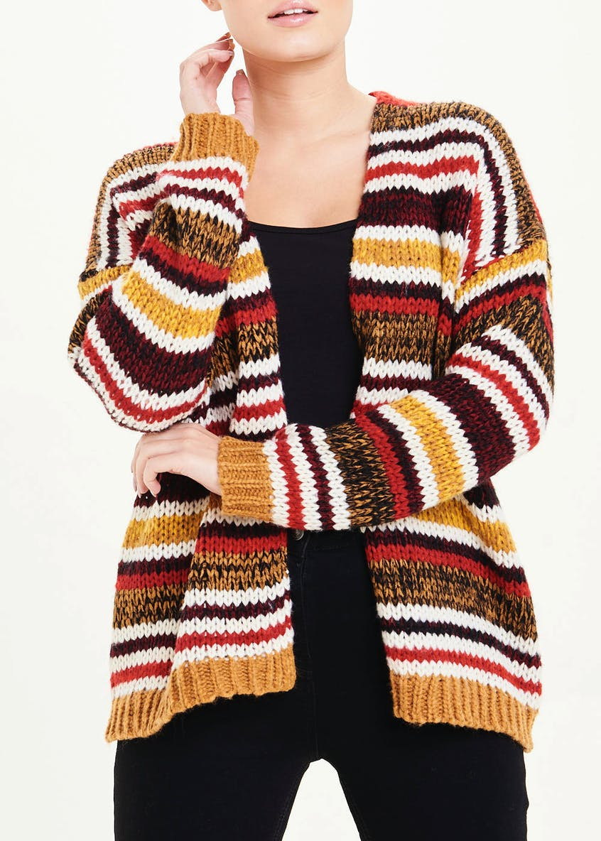 Knitted Stripe Cardigan