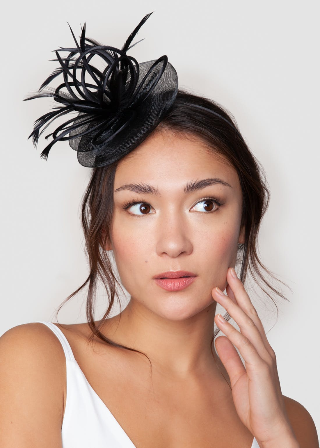 Multi Loop Feather Fascinator Headband