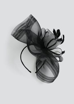 Large Netted Feather Fascinator