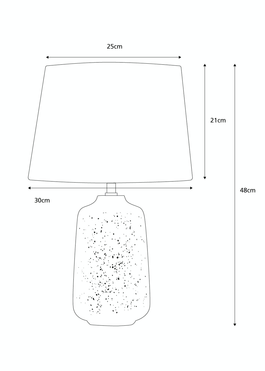 Pepper Table Lamp (H48cm x W30cm)