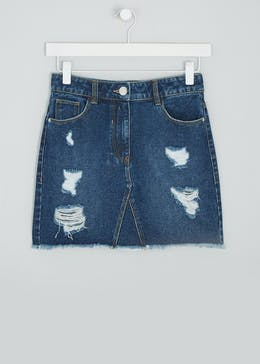 Girls Candy Couture Denim Mini Skirt (9-16yrs)