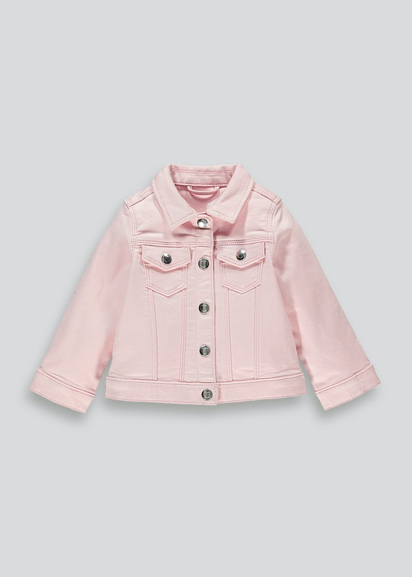 Girls Pink Denim Jacket (12mths-6yrs)