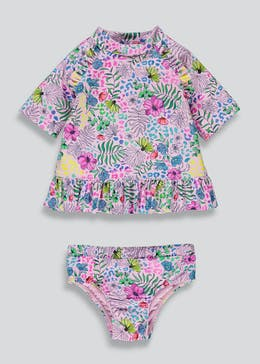 Girls Floral Swim Set (3mths-6yrs)