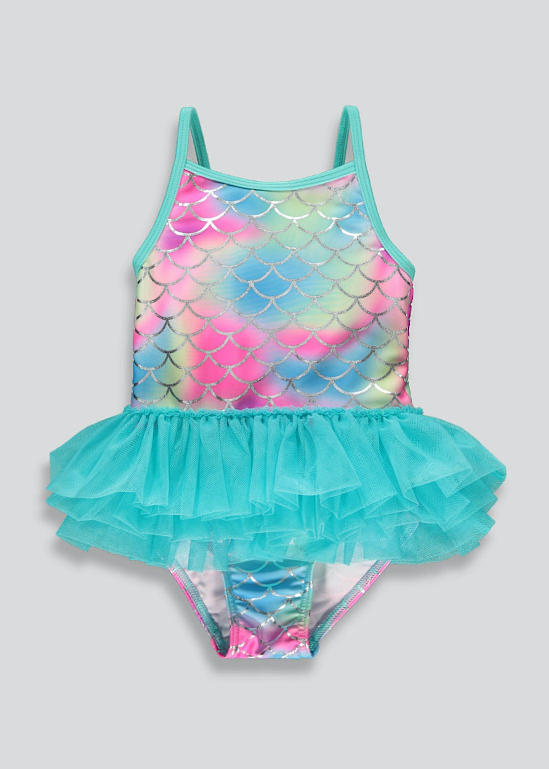 Girls Mermaid Tutu Swimming Costume (3mths-6yrs)