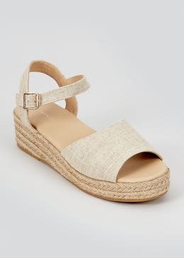 Cream Wedge Espadrilles