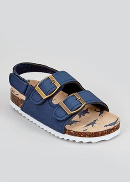 Boys Navy Footbed Sandals (Younger 4-12)
